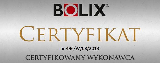 Certyfikowany wykonawca systemu Bolix 10 lat gwarancji